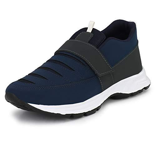 WOODBAY Unisex Navy Blue Mesh Running Shoes - 7