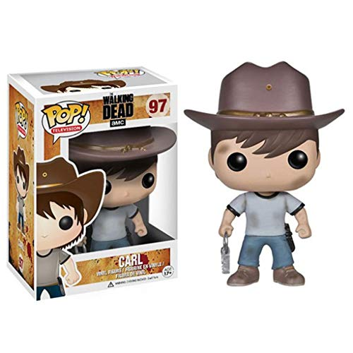 LQZYTY The Walking Dead-Carl Grimes Pop Figura Forma Televisión Colección Ballesta Hermano 10 CM