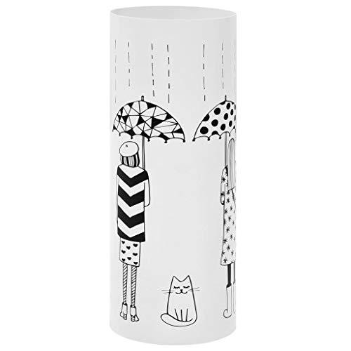 vidaXL Schirmständer Frauen-Design Stahl Regenschirmständer Regenschirmhalter