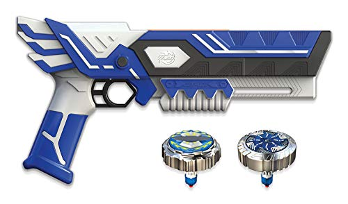Spinner Mad - Mega Blaster Double Tir avec 2 Toupies Incluses - Jouet Compatible avec Toute La Gamme Spinner Mad