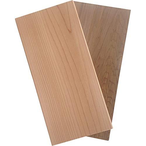 2 St. GRILLFACTUM Grillbretter Grill-Planken Räucherbretter Aromaplanken aus Western Red Zedernholz 29x14x1,1 cm | Grillen mit echtem Barbecue Zedernholz in Premium Qualität