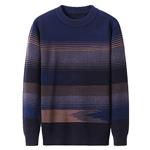 Preisvergleich Produktbild NOBRAND Herren Strickpullover,  Herbst / Winter,  dick gestrickt,  lockeres Oberteil Gr. XXXXL ,  blau