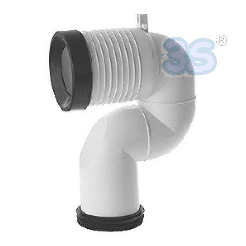 Curva tecnica translata per scarico wc a pavimento - VA078 - regolabile da 16 a 20 cm