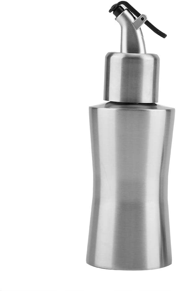 Bottiglia Per Olio In Acciaio Inossidabile 220 Ml Contenitore Cucina Domestica Dispenser Per Salsa a Prova di Perdite Bottiglia Per Erogatore di Olio dOliva Portatile Oliera Per Aceto B