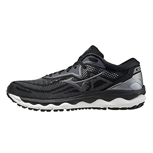 Mizuno Wave Sky 4, Zapatillas de Running Hombre, Black/Castlerock/CSilver, 42.5 EU