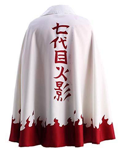 OURCOSPLAY US Size Men's Uzumaki Cloak 7th Hokage Cloak Boruto Cosplay Costume (Men US S(CN M)) Red