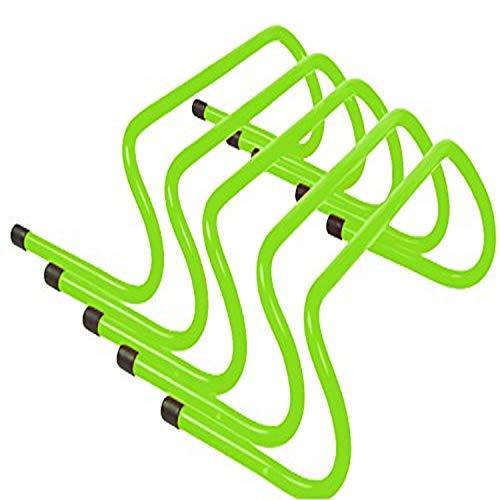 Trademark Innovations Speed Training Hurdle Set (5 Pack), 6, Light Green