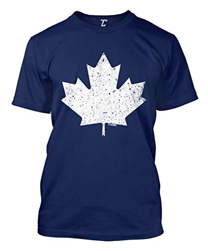 Canadian Maple Leaf - Canada Pride Men's T-Shirt (Navy, Medium)