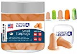 Howard Leight Small earplugs Designed specifically for People with Small Ear canals. Slim and Soft Ear Plugs Comfortable for Side Sleepers, Sensitive Ears.