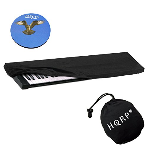 HQRP Staubabdeckung/Staubschutz mit Tasche für Roland JUNO-60 / JUNO-D/JUNO-Di/JUNO-G/JUNO-Gi/JUNO-STAGE Elektronisches Keyboard Digitalpiano + HQRP Untersetzer