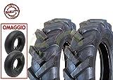 EGA10TNR 2 Pneumatici + 2 CAMERE d'Aria TRATTORINO 4.00-10 TM RINFORZATI 4PR GOMME Ruote COPERTONI MOTOZAPPA Tosaerba MOTOCOLTIVATORE