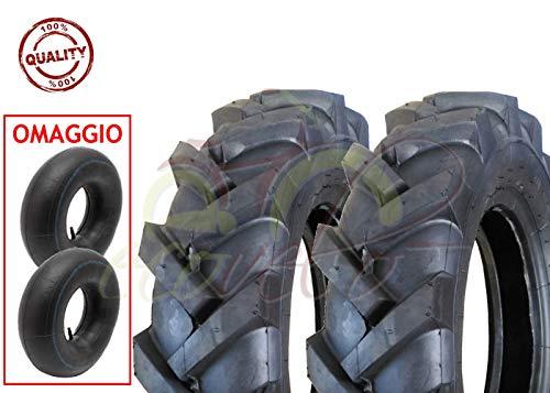 EGA10TNR 2 Pneumatici + 2 CAMERE d'Aria TRATTORINO...