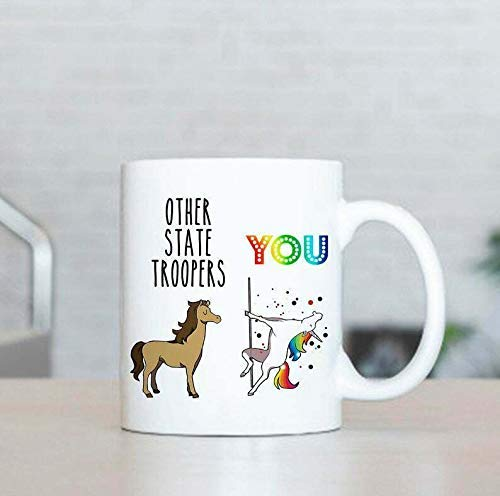 N\A Otro State Trooper Mug, Regalos de State Trooper, Los Mejores Regalos para State, Trooper State, Trooper Mug