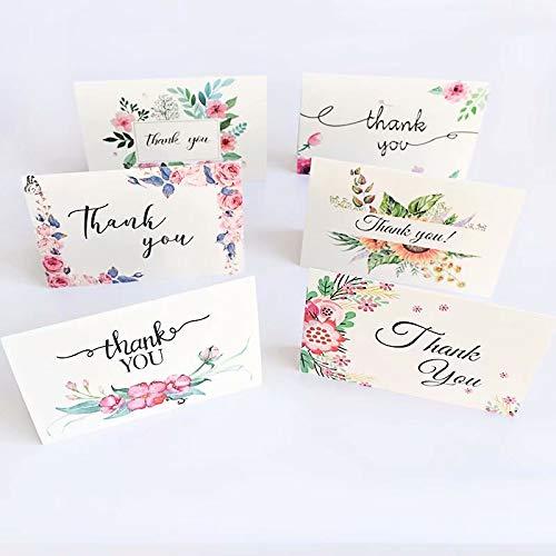 sinHG 3Qメッセージカード 封筒付 グリーティングカード バースデーカード(サンキュー 12枚セット・6種類*2)感謝の気持ちを込めて かわいいメッセージを大切な人へbaiB