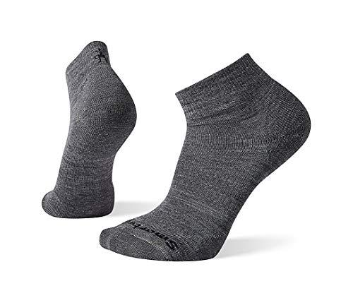 Smartwool Men's Athletic Mini Light Elite Merino Wool Socks, Medium Gray, Small