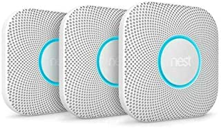 Nest S3000BWES Protect 2nd Gen Smoke/Carbon Monoxide Alarm - Battery (4-Pack)+ 2 Pack WiFi Smart Plug + 1 Year Extended Wa...