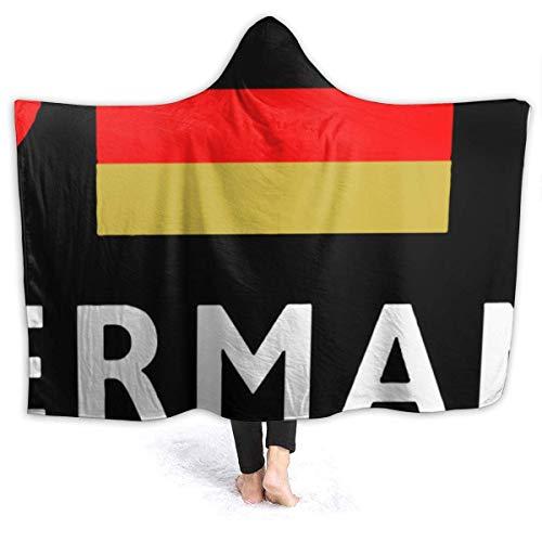 Groefod Deutschland Fußball Deutsch Fußball Decke Thema Übergroße Sherpa Flanell Wurf Tragbare Decken Hoodie Umhang für Kinder