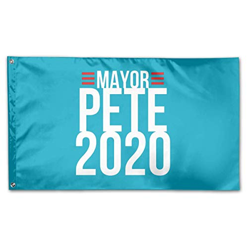 N / A Demonstrationsflagge,Wetterfeste Garten Banner,3X5 Ft,Haus Yard Flagge,Saisonale Gartenflaggen,Große Militärflagge,Bürgermeister Pe-Te 2020, Pe-Te Butti-Gieg Für Präsident Flag