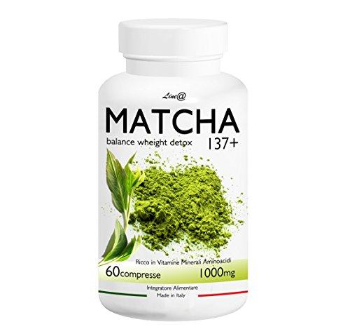 TE' VERDE MATCHA Line@diet (60 cpr) ANTIOSSIDANTE | DRENANTE! BALANCE WEIGHT DETOX | 137 volte più potente del tè verde