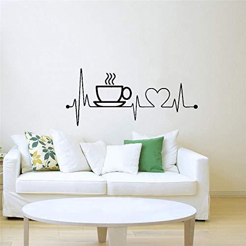 FEGASDF Pegatinas de Pared Taza de café Vinilo para Cocina Arte Decoración del hogar Sala de Juegos Arte del hogar Murales
