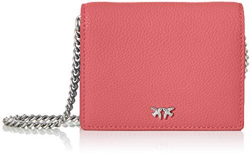 Pinko Jolie Simply 1 Credit Card C P, Portafoglio Donna, Rosa (AZZURRO CIC. INDIA), 2.5x9x11 cm (W x H x L)