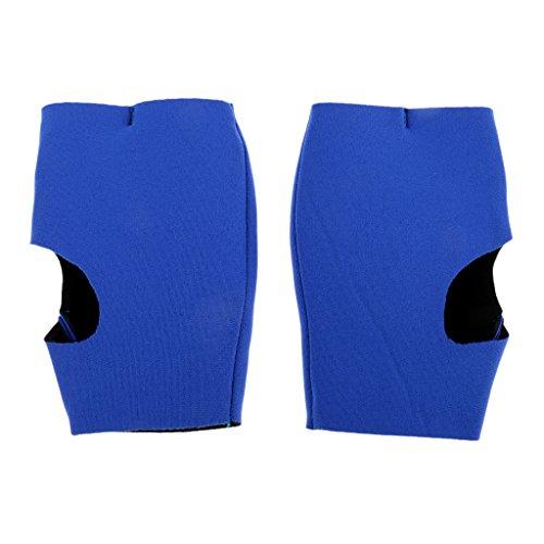 F Fityle 1 Paar Neopren Kajak Paddel/Rudergriff Handschuhe Handflächenschutz für Effizientes Paddeln - Blau, L