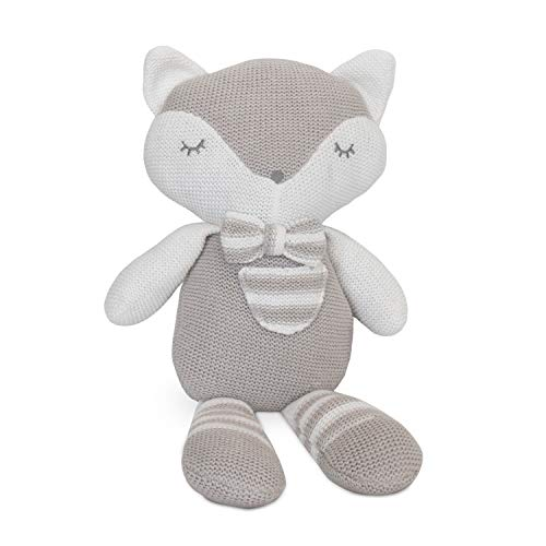 Living Textiles Baby Knit Plush Toy w/ Rattle - Charlie Fox - Premium...
