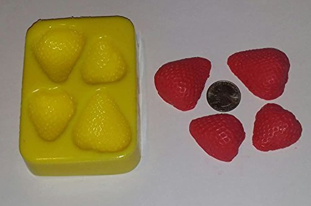 Strawberry Halves Candle & Soap Mold- 4 Cavities