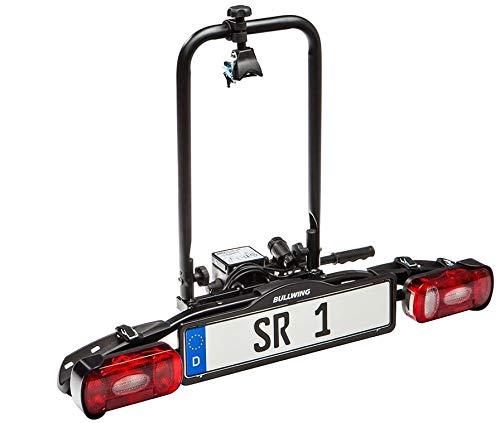 Bullwing SR1 - Fahrradträger für 1 Fahrrad auf die Auto Anhängerkupplung (Diebstahlschutz,Rahmenhalter,Spanngurt)