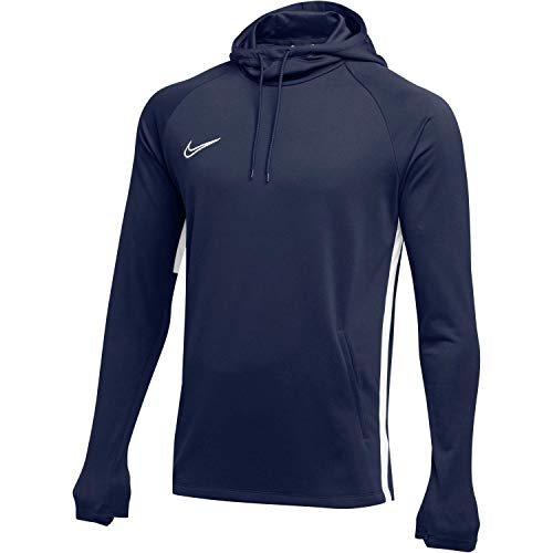 Nike Mens Academy 19 Pull Over Hoodie Obsidian Blue/White AJ9183-451-Size Medium