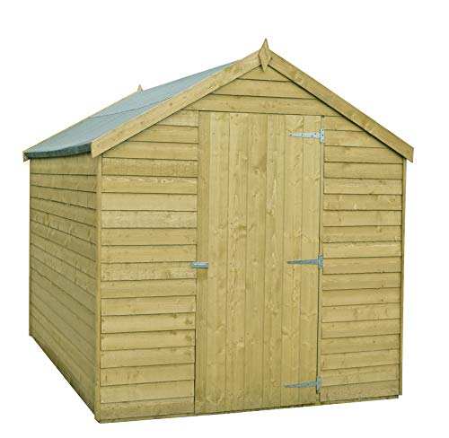 Shire Overlap 8x6 SD Value with Window PT Shed, Brown