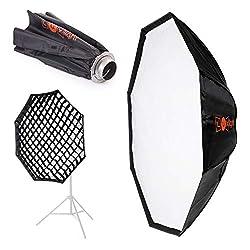 150cm Octabox Softbox mit Grid | Bowens Anschluss | Luxlight® | Leichte Faltbare Schirm-Octobox