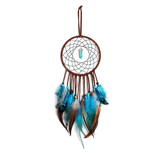 Yuccer Atrapador de Sueños Handmade Dream Catcher Tradicional Hecho a Mano Pared Hogar Habitacione Decoración Chica Regalo (Azul)