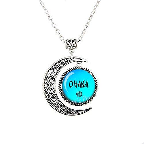 Nijiahx OHANA Mondkette – hawaiianischer Schmuck – hawaiianische Familie – Ohana Jewelry