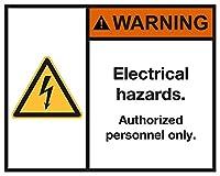 安全標識-電気的危険。インチ金属錫サインUV保護および耐候性、通知警告サイン