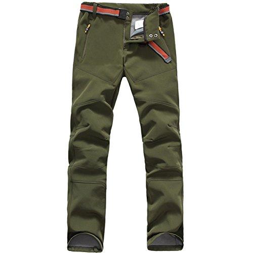Yo-Yo2015 Womens Softshell Pants Waterproof Windproof Hiking Outdoor Soft Shell Trousers 1608 Army Green Small