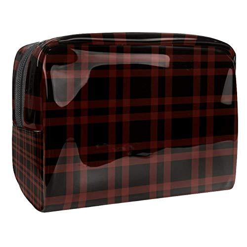 Trousse de toilette multifonction pour femme - Rétro rouge noir