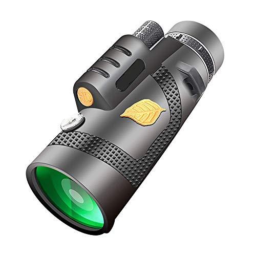 LXHJZ Binoculars Telescope Phone Set , BAK4 Prism 12x50 Zoom Resistente al Agua con Soporte para teléfono y trípode para Smartphone, observación Aves, Caza, Camping