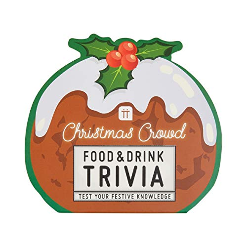 Food Trivia Quiz Game - Christmas Pudding Shaped - Ideal Stocking Filler of Secrt Santa Present Idea