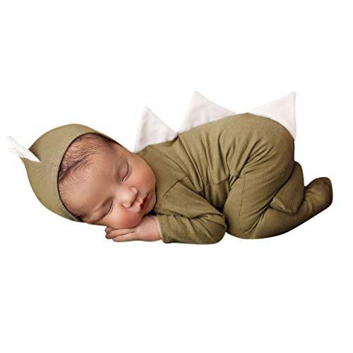 Neugeborenes Baby Baby Mädchen Dinosaurier Jumpsuit Hut Kappe Outfits Fotografie Requisiten