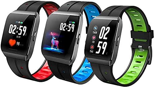 Smart Watch Fitness Tracker IP68 Hombres impermeables para hombres y mujeres Color Pantalla táctil completa Fitness Watch Reloj inteligente Bluetooth con ritmo cardíaco / Monitor de sueño Podómet