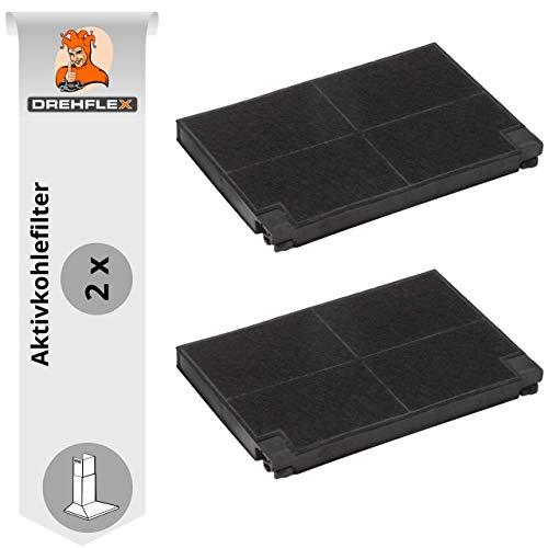 DREHFLEX - AK17-2 - 2er Pack Aktivkohlefilter Kohlefilter für Dunstabzugshaube passt für AEG-Electrolux EFF70 902980049-8 9029800498 MCFE05 auch Faber Franke 112.0157.242 112.0016.757 GZD0604