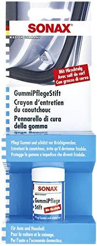 SONAX GummiPflegeStift mit Hirschtalg (18 g) pflegt, schützt vor brüchig werden und festkleben von Gummidichtungen an Türen, Scheiben, Kofferraumdeckeln| Art-Nr. 04990000