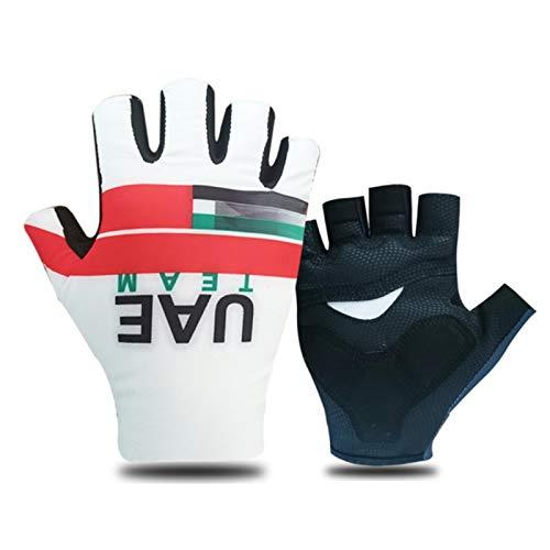 Guantes de ciclismo con medio dedo, para hombres y mujeres