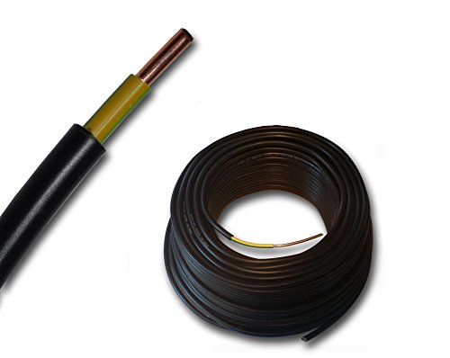 Erdungskabel - Erdkabel - NYY-J 1x6 mm² - schwarz - große Mengenauswahl - ab 5m frei wählbar - in einer Länge geliefert