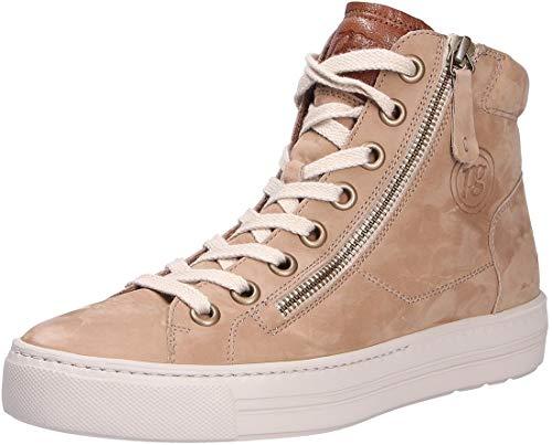 Paul Green Damen SUPER Soft Hightop-Pauls, Damen High-Top Sneaker,schnürstiefeletten,mid,Cut,Women's,Woman,Hellbraun/Mittelbraun,37.5 EU / 4.5 UK