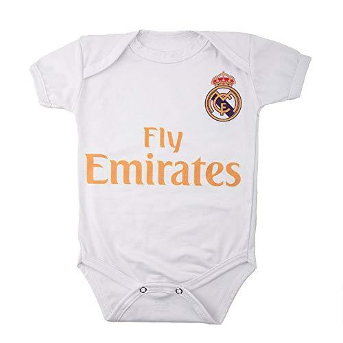 VBV Real Madrid Baby-Body, Baumwolle, Fußball-Design Gr. 3-6 Monate, weiß