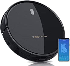 Tesvor Robot Vacuum Cleaner - 4000Pa Strong Suction Robot Vacuum, Alexa Voice and APP Control, Self-Charging Robotic Vacuum Cleaner with 5200mAh Battery, for Low-Pile Carpets, Hard Floors and Pet Hair