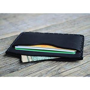 Schwarze Kartenhülle, Portemonnaie, langlebige Aufbewahrung von Kreditkarten und Banknoten. Geldbörse