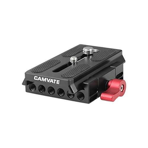 CAMVATE Quick Release Base Plate Compatible with Manfrotto 501/ 504/ 577/701 Tripod Standard Accessory